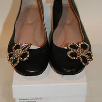 Chloe Nwb 520 Chain Flower Black Ballet Lambskin Round Toe Flats Sz 40.5 Photo