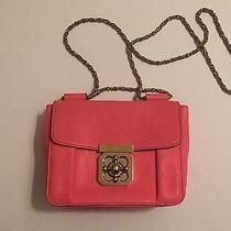 Chloe Orange Lambskin Leather Small Elsie Bag Photo