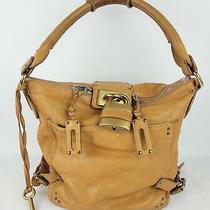 Chloe Paddington Tan Caramel Leather Satchel Hobo Bag Shoulder One Strap Purse Photo