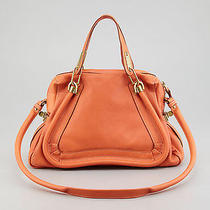Chloe Paraty Small Leather  Shoulder Cross Body  Satchel Bag Pinky Orange Photo