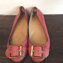 Chloe Pink Flats With Buckle Size 38 Photo
