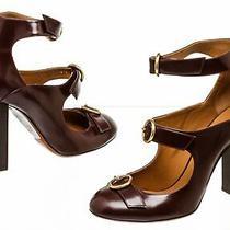 Chloe Purple Leather Three Buckle Heels ( Size 38.5 ) Photo