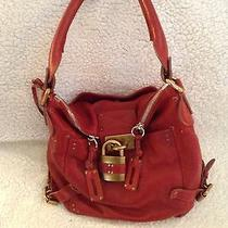 Chloe Red Leather Handbag Photo