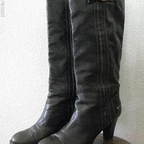 Chloe Rich Dark Brown Buckle Leather High Heel Boot 41 11 10.5 Photo