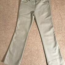 Chloe 'Roche' Pale Olive Green Ankle Crop Cotton Wide Leg Jean Fr 34 / Uk 6 495 Photo