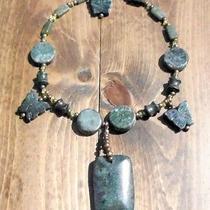 Chloe's Creations Item 227- Serpentine Marble & Peridot 15