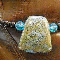 Chloe's Creations Item 230- Porcelain Glass & Jasper Boot Bracelet. Photo
