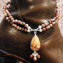 Chloe's Creations Item 259- Jasper Welo Opal & Silverplate Boot Bracelet. Photo