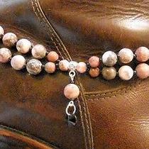 Chloe's Creations Item 262- Jasper Glass & Tibetan Silver Boot Bracelet. Photo