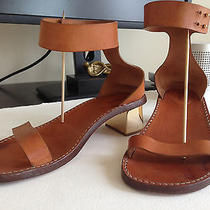Chloe Sandals Gold Plated Heel Size 39 Photo