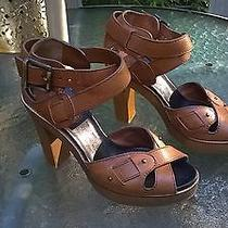 Chloe Sandals Wood Heel  Photo