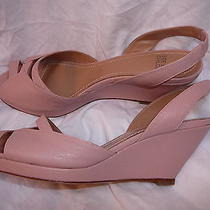 Chloe  See 40  Sandals Wedges Light Pink New 395 Photo