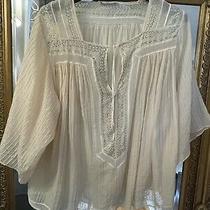 Chloe Silk Cotton Champage Blouse Top 38/uk 8/10 Photo