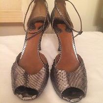 Chloe Silver Metallic Snakeskin Pumps Photo