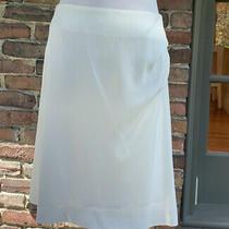 Chloe Skirt Milk Whi Silk Knee Length T 44 / Us 12 Ruche Detail on Hip  Photo