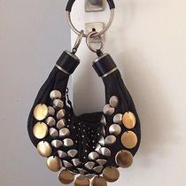 Chloe Studded Beaded Black Leather Bracelet Bag Photo