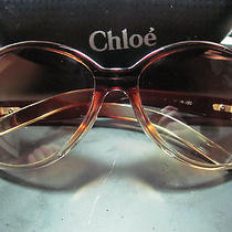 Chloe Sunglasses 61 16 130 Gold Tone Hinges With Case Photo