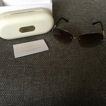 Chloe Sunglasses Cl2215 C03-125 Gold/red Horn Round Metal Frame Aviator With Box Photo