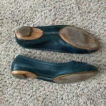 Chloe Teal Leather Ballet Flats 40 / 9 - Gorgeous Photo
