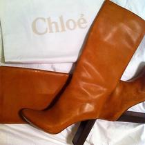 Chloe Tuscan Calf Leather Boots Size 9 Photo