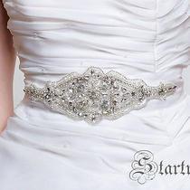 Chloe Wedding Bridal Crystal Pearl Sash Belt Photo