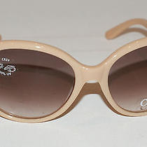 Chloe Womens Cl 2193 C04 Oversized Beige Gold Vintage Sunglasses New W/o Case Photo