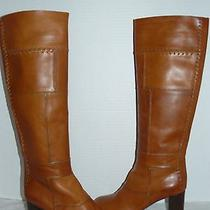 Chloe Womens Whipstitched Patchwork Elah Tuscan Leather Boot Size Us 8/eu 38.5  Photo