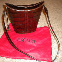 Chocolate Brown Textured Luxury Escada Bag Photo