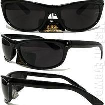 Cholo City Wrap Sunglasses Super Dark Lenses Retro Og Loc Black 15sd Photo