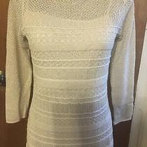 Choose One Ralph Lauren Silver or Gold Glitter Knit Sleveless Dress M or L Photo