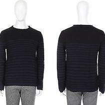 Chris Christy Mens Casual Boatneck Strip Pattern Sweater Top Navy Slim Size S Nw Photo