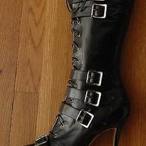 Christian Dior 1k Corset Botte Buckled Lace-Up Pointy Logo boots40/9.5 Photo