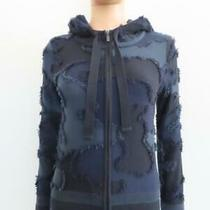 Christian Dior 2020 Blue/black Camouflage Hooded Zip Sweater F 34/us 2 Photo