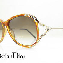 Christian Dior 2669 Vintage  Sunglasses Gold and Tortoise Oversized Euc Photo