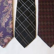 Christian Dior and 2 Other Designer Silk Blend Neck Ties  Photo