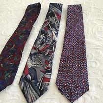 Christian Dior and Others Mens Silk Neck Ties in Awesome Patterns Photo