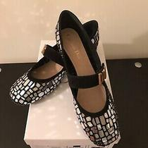 Christian Dior Baby-D Mirror Embroider Ballet Pump Silver Black (39) Us 9 New  Photo