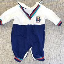 Christian Dior Baby Dior Romper Jumpsuit 3 Months Blue White Preppy One Piece Photo