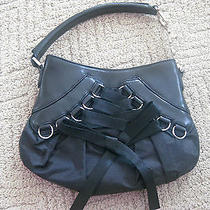Christian Dior Black Leather Corset Ballet Bag Photo
