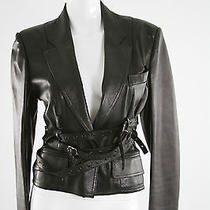 Christian Dior Black Leather Motorcycle Jacket. 8 Photo