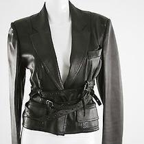 Christian Dior Black Leather Motorcycle Jacket. 8 Photo