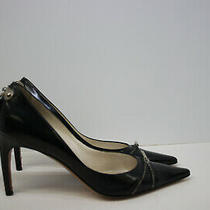 Christian Dior Black Padlock Kid Leather High Heel Pumps Shoes 38.5 8.5 Photo
