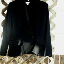 Christian Dior Blazer Jacket Size 10 Black Wool Women  Euc Classic Career Photo