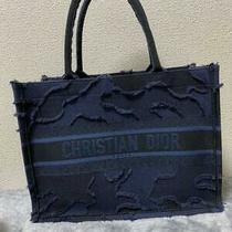 Christian Dior Book Tote Hand Bag Navy Camouflage Ex Rare Photo