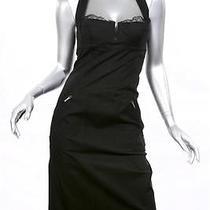 Christian Dior Boutique Halter Corset Dress Sz 4 Black Photo