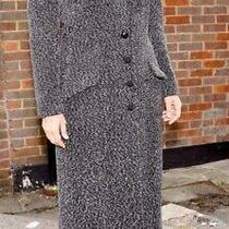 Christian Dior Boutique Paris Vintage Grey Speckle Long Coat Size L (12-14) Photo