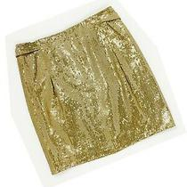 Christian Dior Boutique Resort 2007 Sequined Leather Skirt Size 10 Gold Galliano Photo