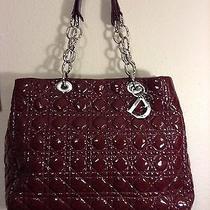 Christian Dior Burgundy Leather Soft Tote Bag Photo