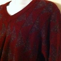 Christian Dior Burgundy Wool Blend Sweater