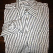 Christian Dior Button Down Long Sleeve Dress Shirt Men's Size 15 34-35 New Photo